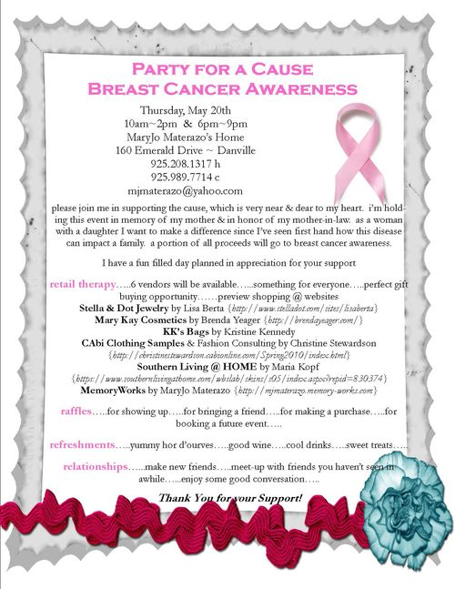 Party for a cause breast cancer