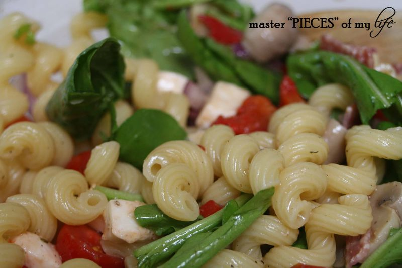 Pasta salad closeup