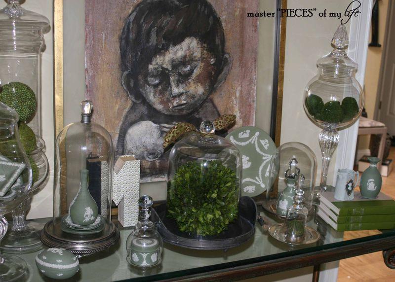 Glass cloche summer 2