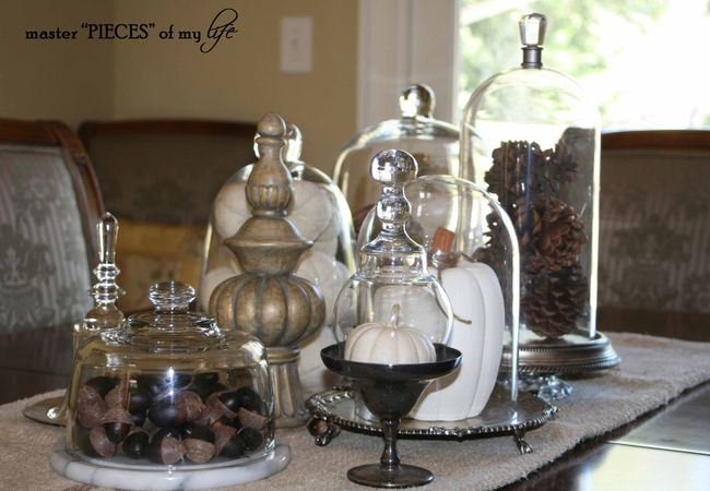 glass cloche vignette ~ fall