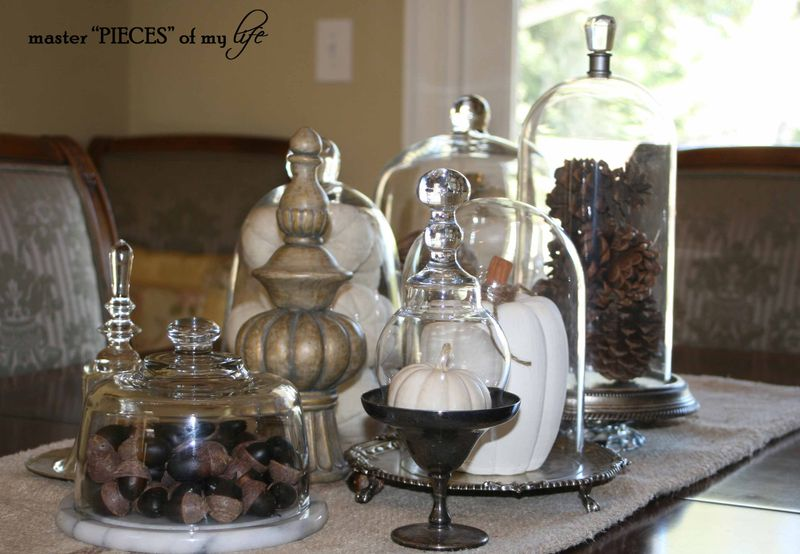 Glass cloche vignette fall 1