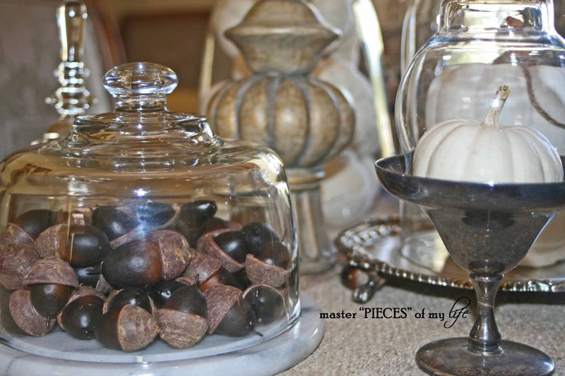 Glass cloche vignette fall 2
