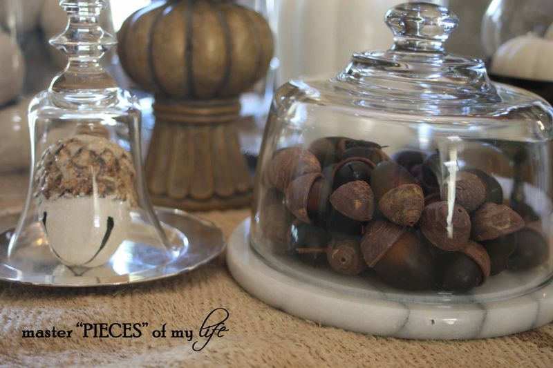 Glass cloche vignette fall 8